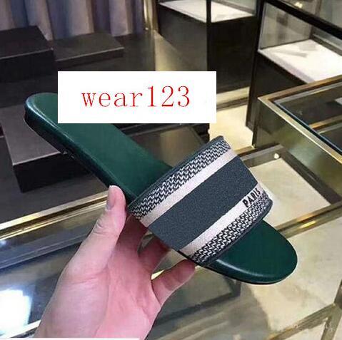 heiße Marke Trendy Böhmen Frauen Pantoffeln Brief Stickerei Dame Sandal Designer beiläufige Slipper