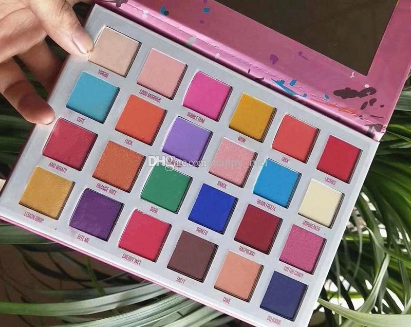 Бесплатная доставка ePacket Новый макияж глаз Новое прибытие 24 цветов Палитра теней для век!