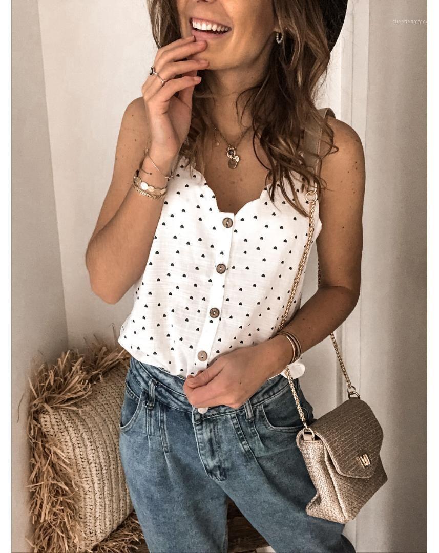 Fashion All Match Casual Womens Tees Spaghetti Strap V Neck Tops Solid Color Print Womens Tshirts Summer