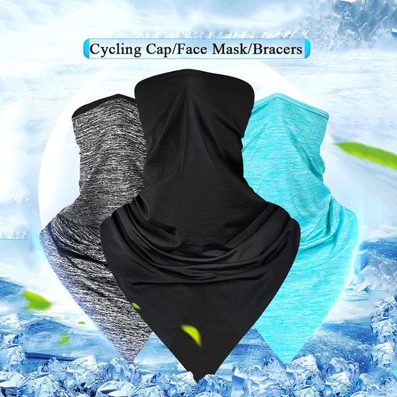 OUTERDO льда Ткань Велоспорт Cap Головной убор Anti-UV Зонт езда Headgear велосипед Бандана маска Спорт Hat шарф