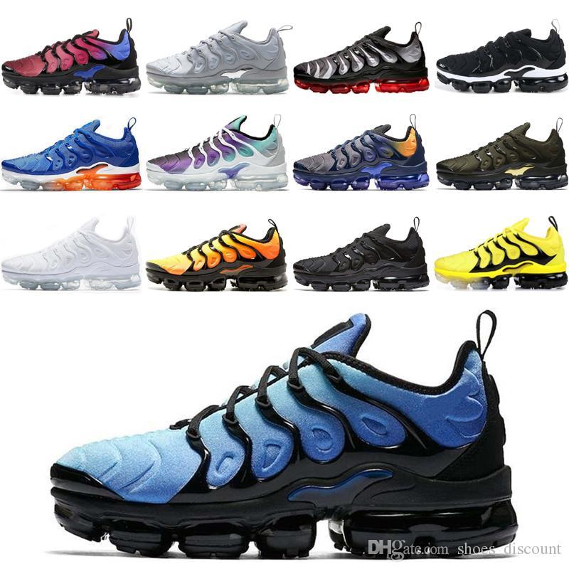 Nike Air TN Plus İndirim Yükseklik Kalite Spor Ayakkabı Yeni Tn Erkekler Siyah Beyaz Kırmızı Mens Nefes Runner Sneakers Man Eğitmenler Tenis Ayakkabıları SH