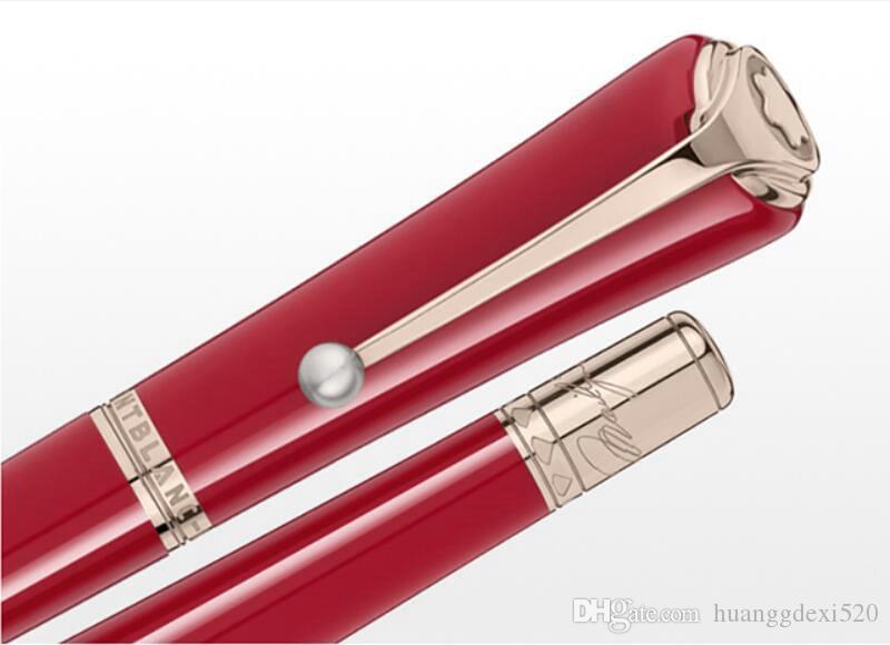 تعزيز السعر المنخفض - Muses الفاخرة مارلين مونرو توقيع الرول الكرة القلم قلم حبر جاف نافورة الأقلام مع لؤلؤة كليب و MB العلامة التجارية في الأعلى