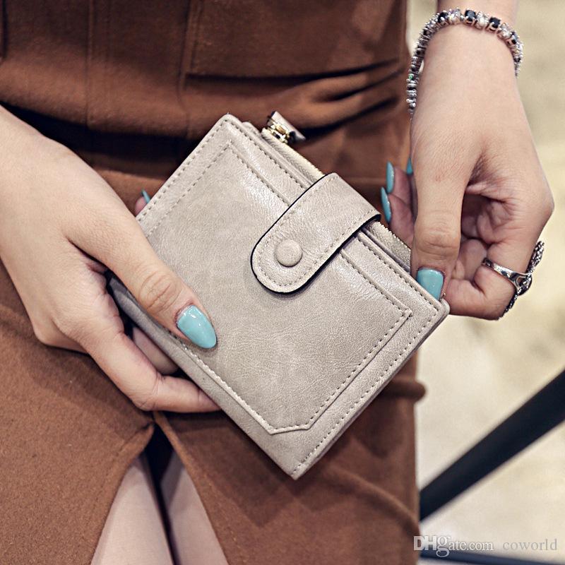المرأة RFID حامل بطاقة الائتمان المنظم حالة جلد الأمن محافظ قصيرة عملة الحقيبة محفظة
