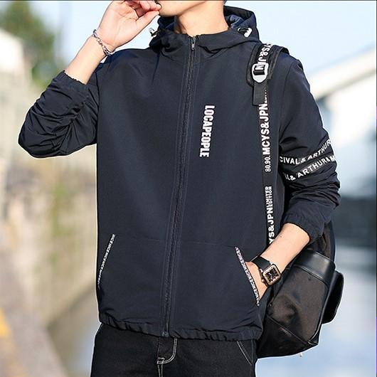 Herren-Designer Jacken Langarm mit Kapuze Herren-Oberbekleidung Frühling Windjacke Mode-Taschen-Brief gedruckt Reißverschluss Männlich Kleidung