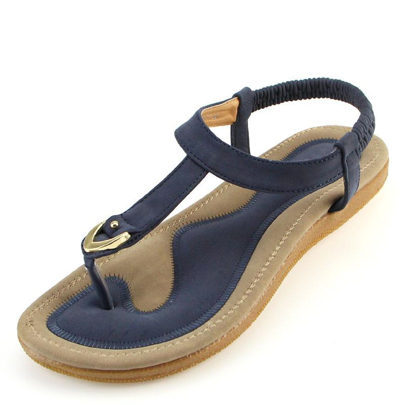 Nouveau Femmes Sandale Talon Plat Sandalias Femininas D'été Casual Chaussures Individuelles Femme Fond Doux Pantoufles Sandales Taille 35-42