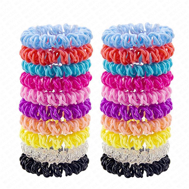 Croix du téléphone Cordon Bandeaux femmes élastiques en plastique Bandeaux caoutchouc Cordes Anneau cheveux Filles Accessoires cheveux pas cher D62801