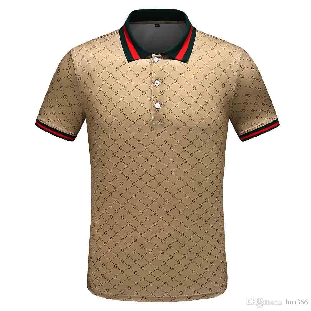 designer Mens di marca della maglietta di polo di modo di estate dei vestiti della maglietta fiori animali leone Medusa testa Tshirt couverture collare top tee casual
