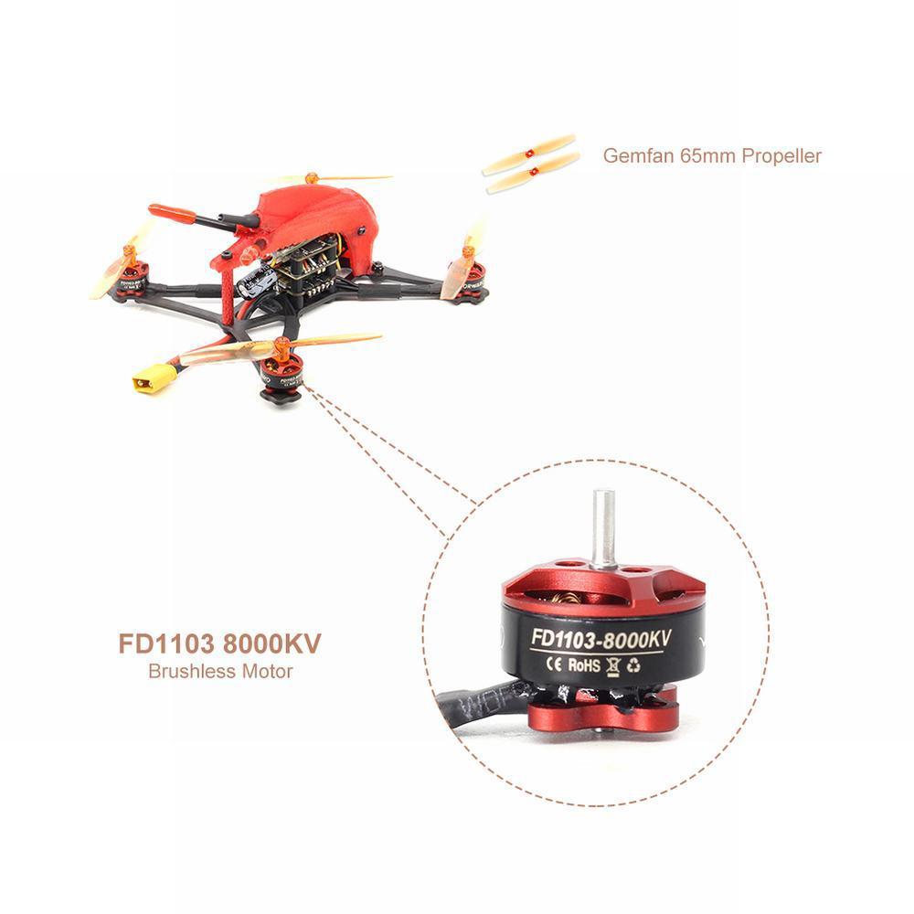 HGLRC Toothpick Parrot120 Pro 120mm FPV Racing Drone mit Kamera 1200TV 2-4S F4 Flugregler 13A 4in1 ESC PNP Mini Dron