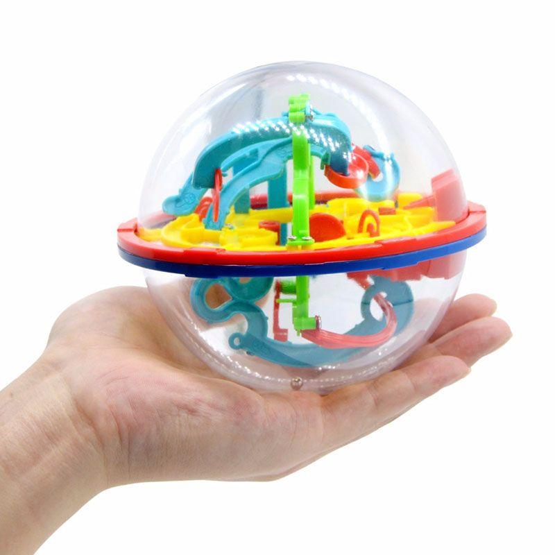 3D لغز الكرة ماجيك الفكر الكرة 100 الخطوة متاهة المجال غلوب لعب تحدي الحواجز لعبة اختبار الدماغ توازن تدريب جديدة