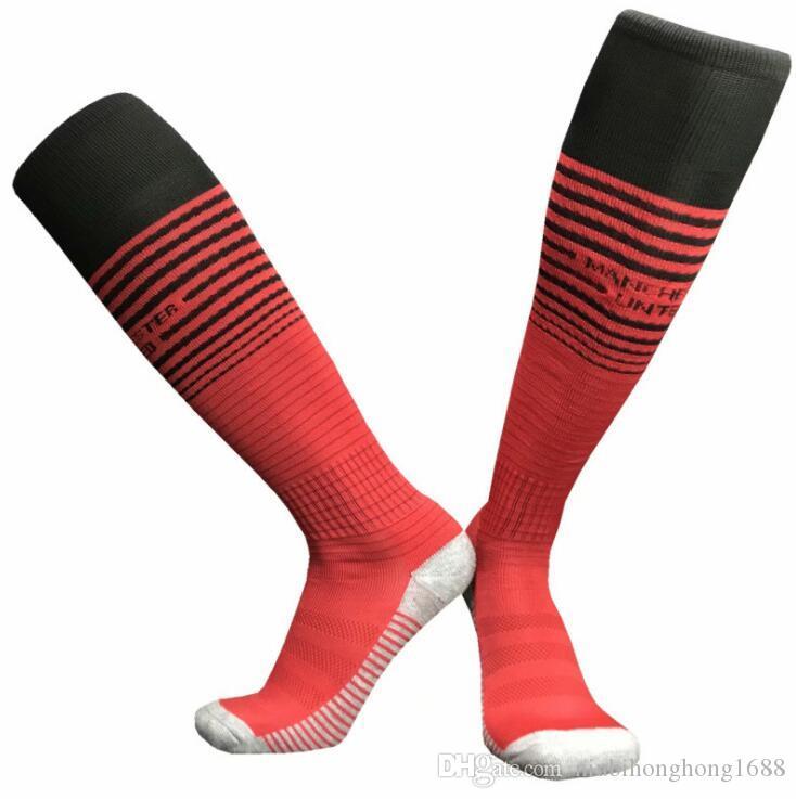 Wholesale 2018/19 football socks adult children's sports socks men's knee high football socks thick towel bottom long hose