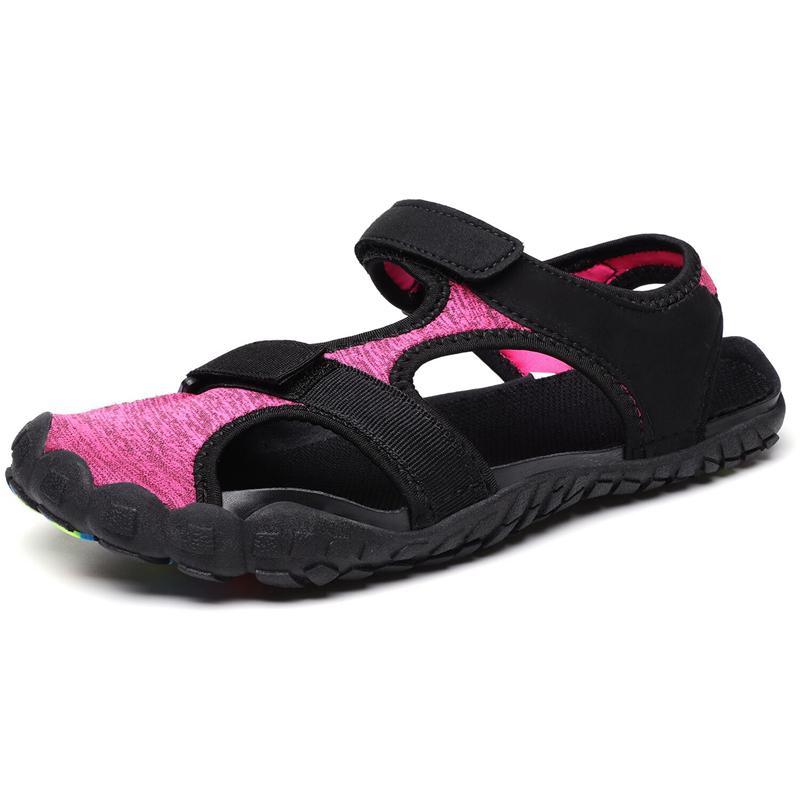Sandalias de las mujeres al aire libre Nuevo plano ocasional sandalias de cáñamo cuerda de pelo salvaje ligeros de playa cómodo zapatos grandes del tamaño extra grande CX200610