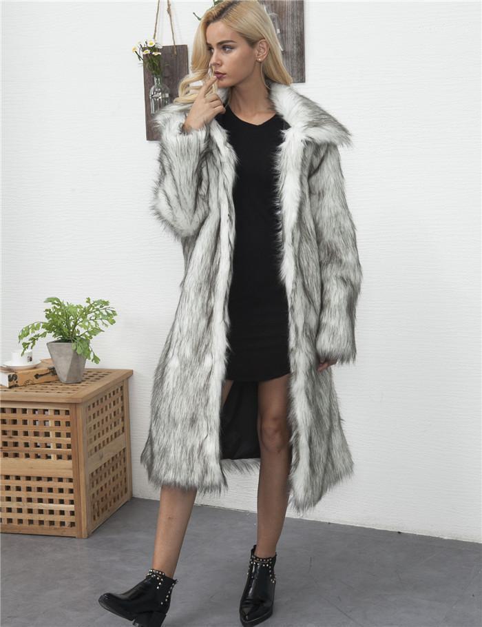 Ropa caliente grueso Diseñador piel para mujer casual de invierno de manga larga Faux abierto Sitich Mujer abrigos de moda