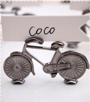 Creative Vintage Bicycle Bike Table Place Card Holder Name Number Wedding Party Event Memo Clip Restaurants Decoration nf