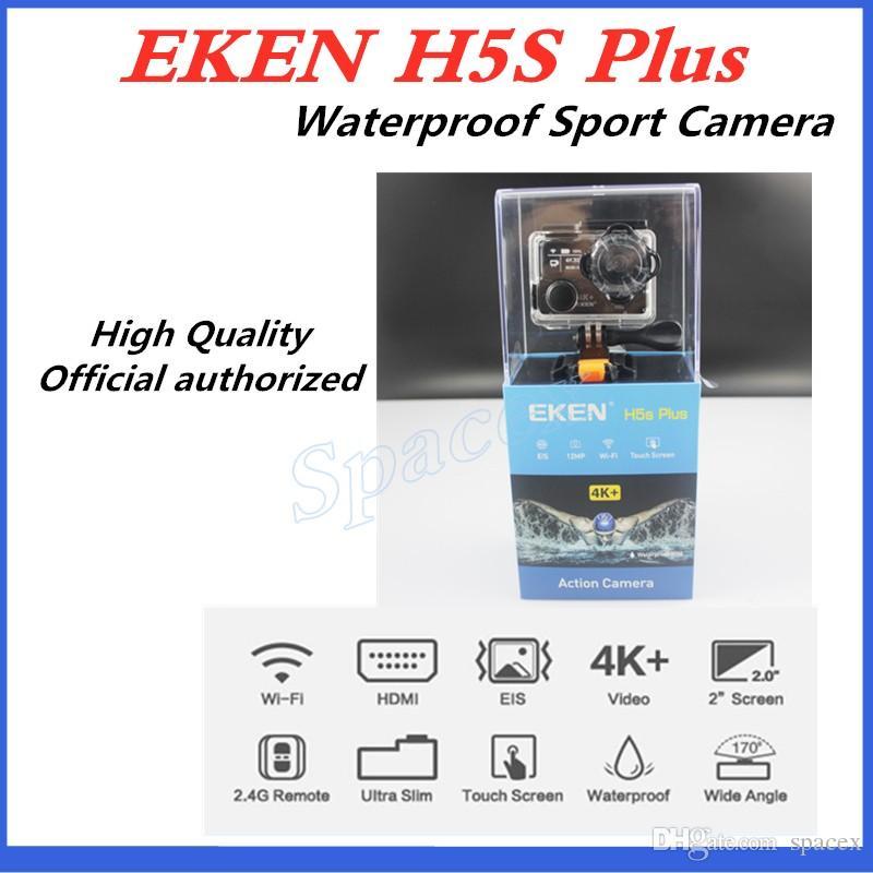 5pcs Original EKEN H5S plus Waterproof DV EIS Native 4K Ultra HD Sports Camera WIFI HDMI 170 Wide Angle 2.4G Remote