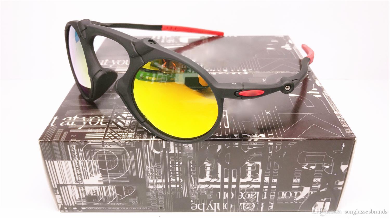 Wholesale-O 2018 hochwertige Art- und Weisereitsport-treibende Sonnenbrille polarisiertes Madman dunkles Carbon Prizm tägliches Iridium geben Verschiffen frei