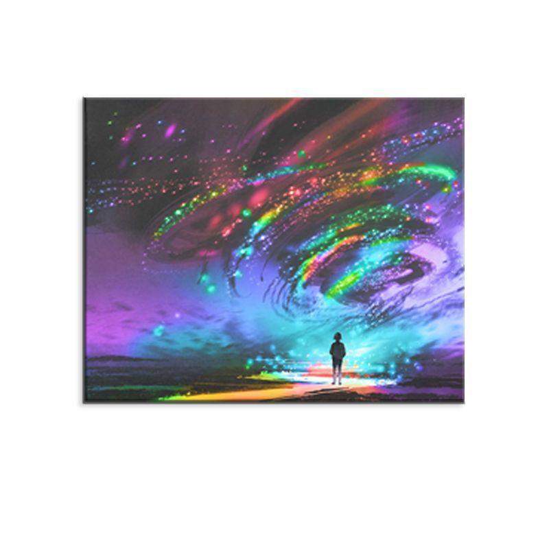 컴퓨터 잉크젯 추상 화려한 별이 빛나는 하늘 유화 침실 입구 복도 현대 m 그림 방 장식 생활 30 * 40, 40 * 50