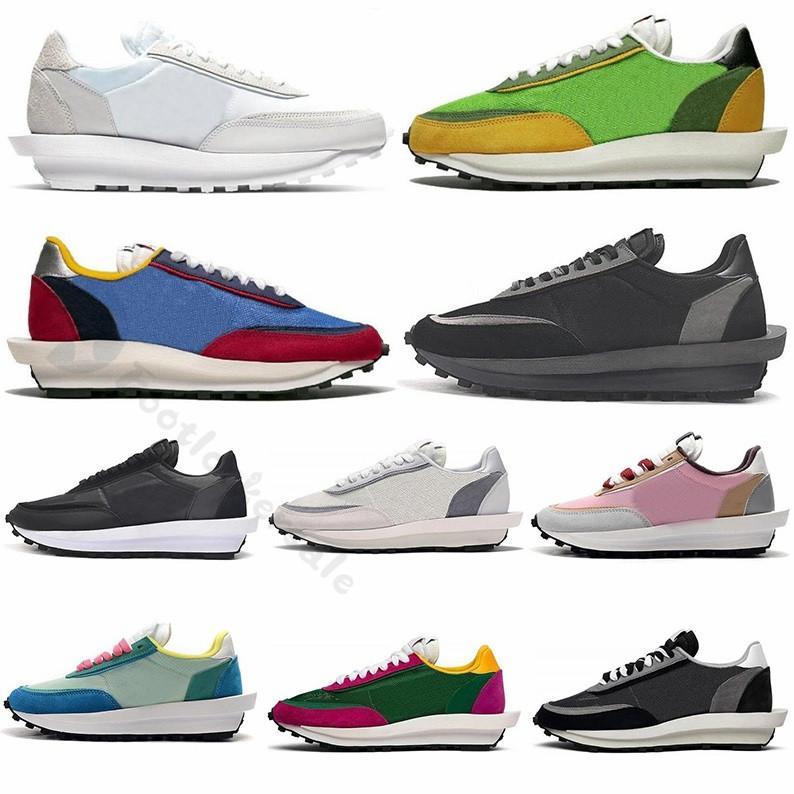 2020 Sacai LD Waffle LDV man womens running shoes triple black Nylon mens shoe run trainers outdoor 55 87 React Element sports sneakers