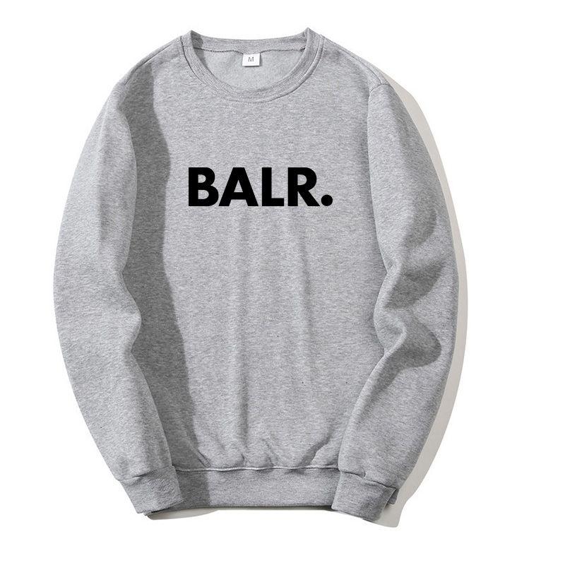 Diseñador suéter superior Otoño 2020 BALR Nueva ropa de los hombres sudadera con capucha de las mujeres Hoodies Color Gris Negro asiático rojo del tamaño S-3XL