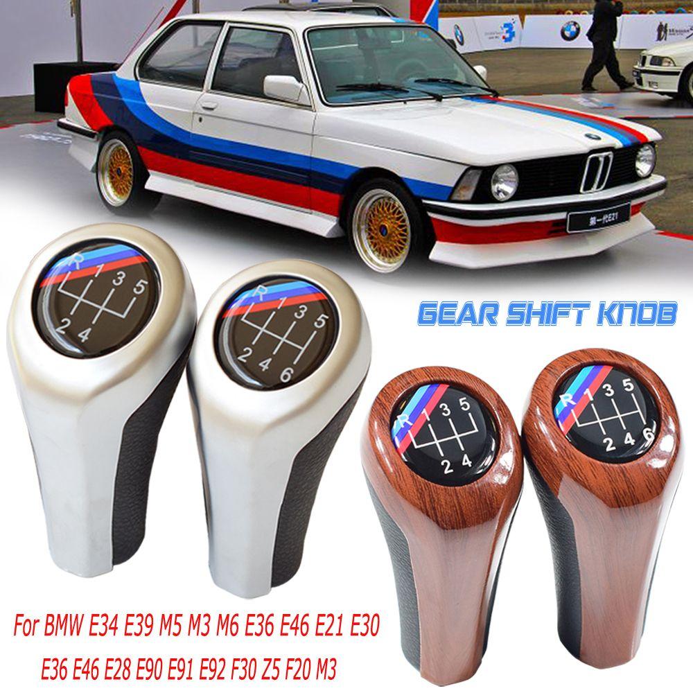 Car Gear Shifter Knob Stick Head Lever for BMW 1 3 5 7 Series E81 E82 E87 E90 E91 E92 E60 E61 E63 E84 E53 E28 E30 E34 E36 Manual Gear Shift Knob 5 speed