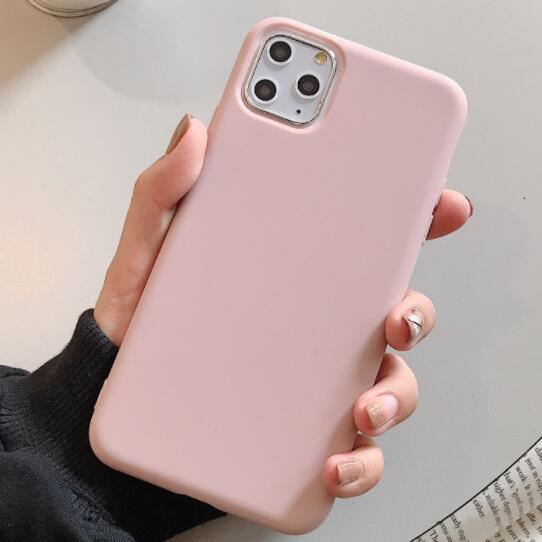 100pcs Hot Phone Case Frosted Color TPU Candy Color Thickened All-Inclusive Drop-Resistant For Iphone 6s 7 8 Xr Xs 11 Pro Max Plus