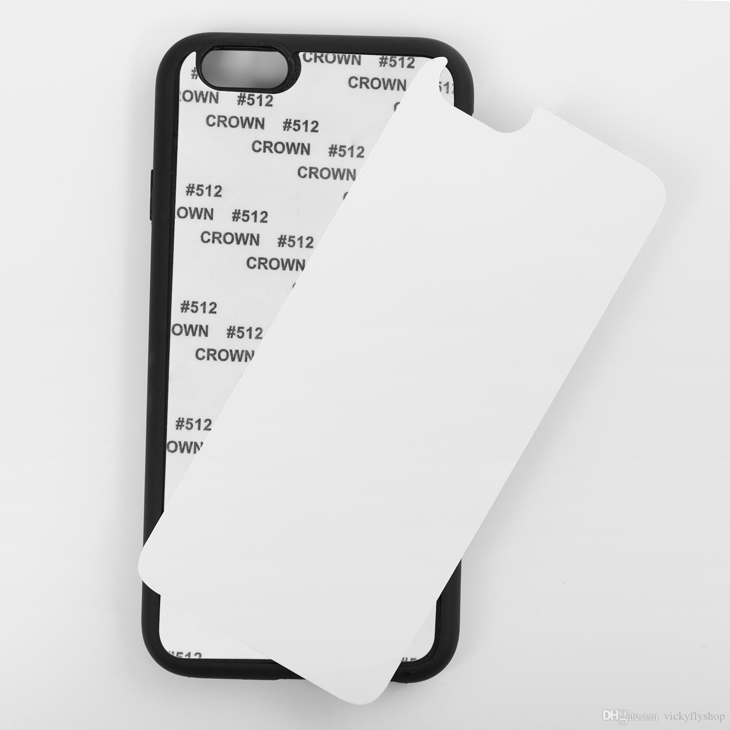 Mobile Phone Accessories With Aluminium Plates 2D DIY Sublimation Heat Press PC Phone Case for iphone X xs max XR 8 7 6