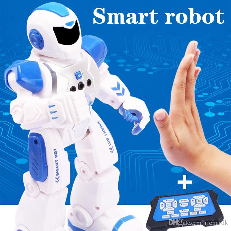 RC Smart Gesture Sensor Танец робота Программируемая Inteligente электрический Sing дистанционного управления Обучающие Гуманоид робототехника Детские игрушки