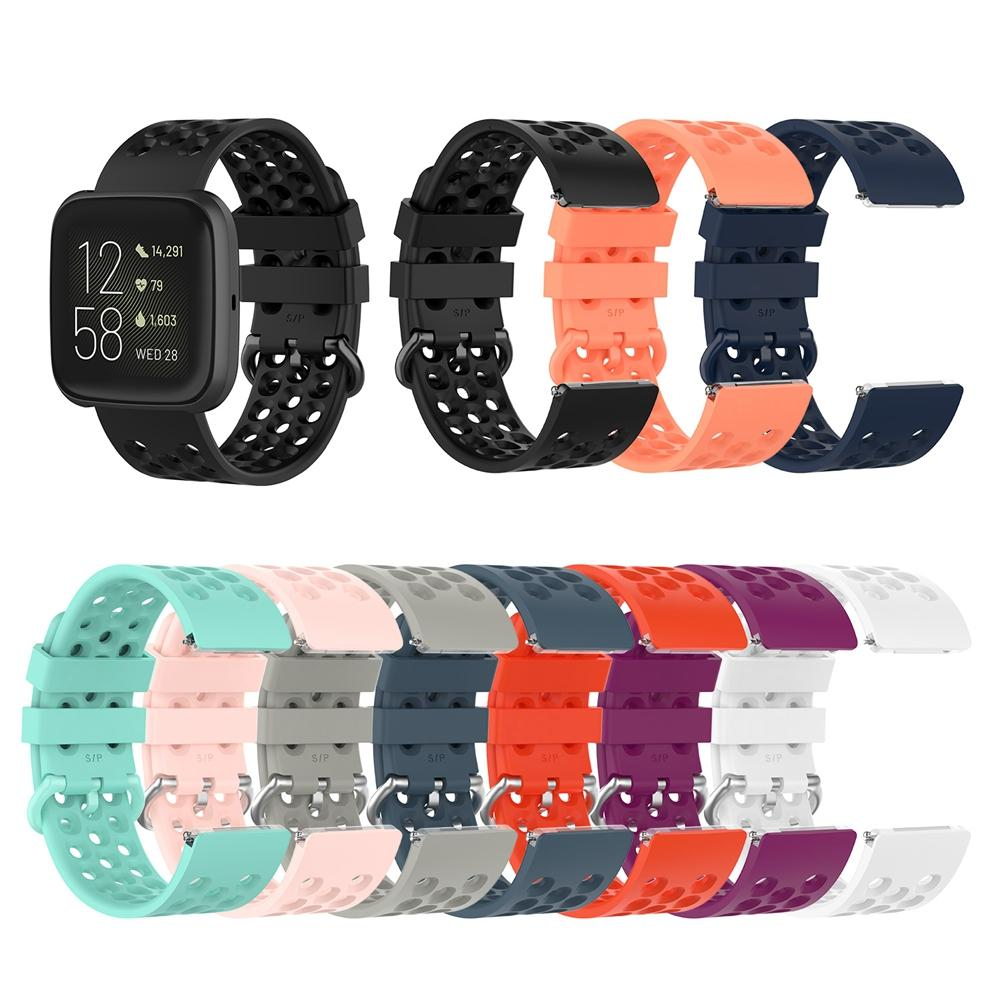 Silione TPE Bracelet Wrist Bands for Fitbit Versa 2 Strap Sport Wristbands Breathtable Sport Band for Fitbite Versa Lite Versa2 Straps
