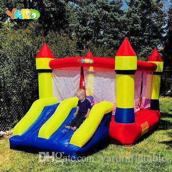 YARD Konut Naylon Şişme Bouncy Castle Trambolin Ev Bebek Süveter ve Çocuklar için Slide Kucakları