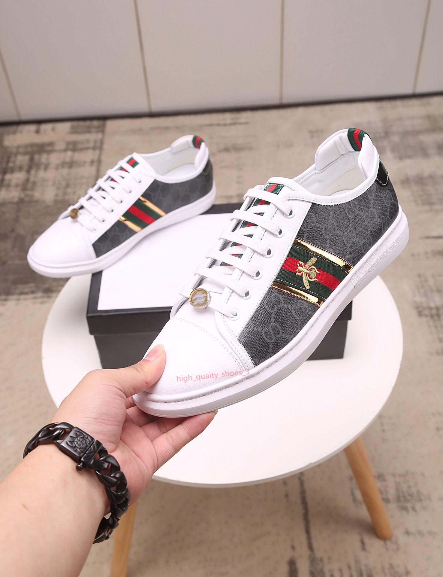 Gucci shoes New Fashion Branco / inferior Designer Red Mens Womens Sneakers Low Top Casual Plano Designer Men Shoes Unissex Sneaker Outdoor condução Xshfbcl
