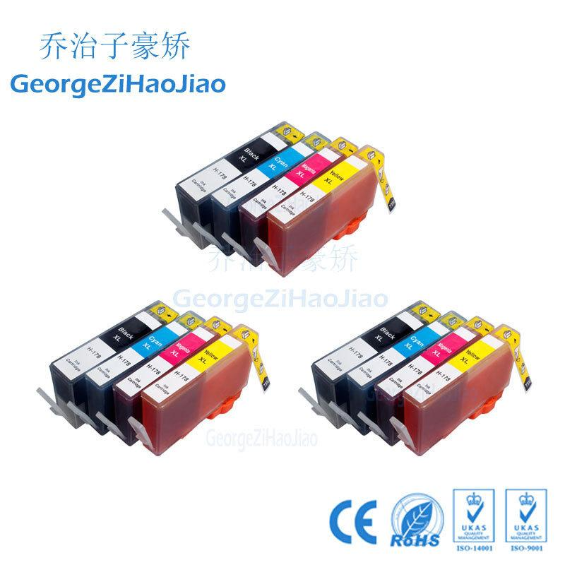 12 pcs ink cartridge compatible for hp178 178xl hp178xl for hp Photosmart 7515 5515 B109a B010b printer