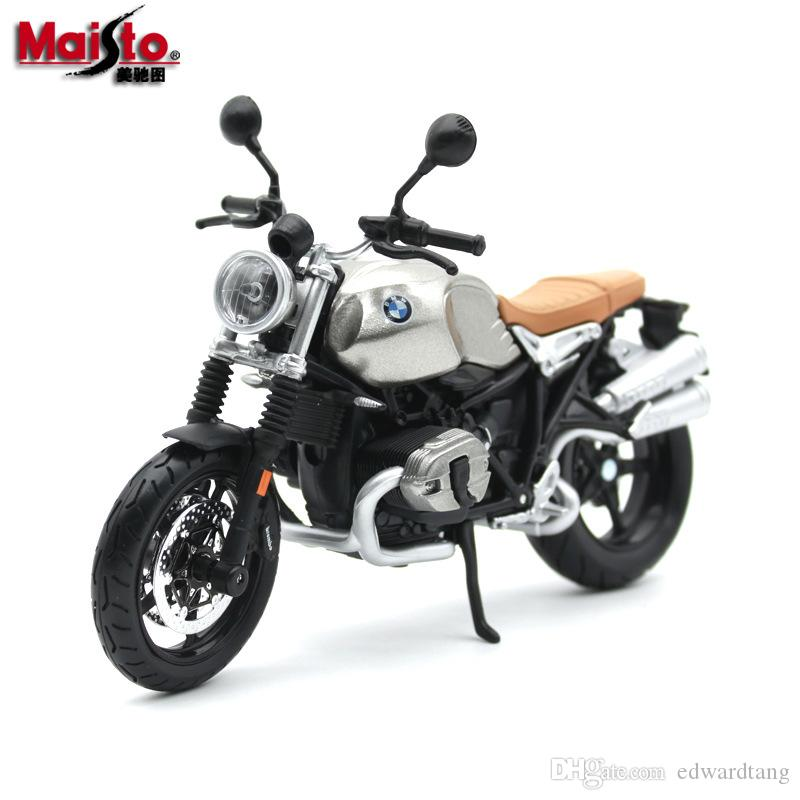Maisto Diecast Model Car Toy, BMW R nineT Motorcycle, 1:12 Scale High Simulation, Ornament for Christmas Party Kid Birthday Gift, Collecting