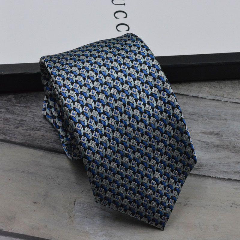 Gravata de moda gravata de seda dos homens negócios casual gravata de alta qualidade caixa de presente original versão estreita
