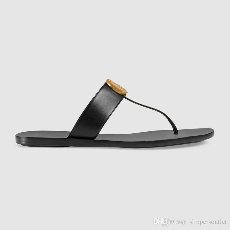 Designer 10mm Leather Thong Sandals