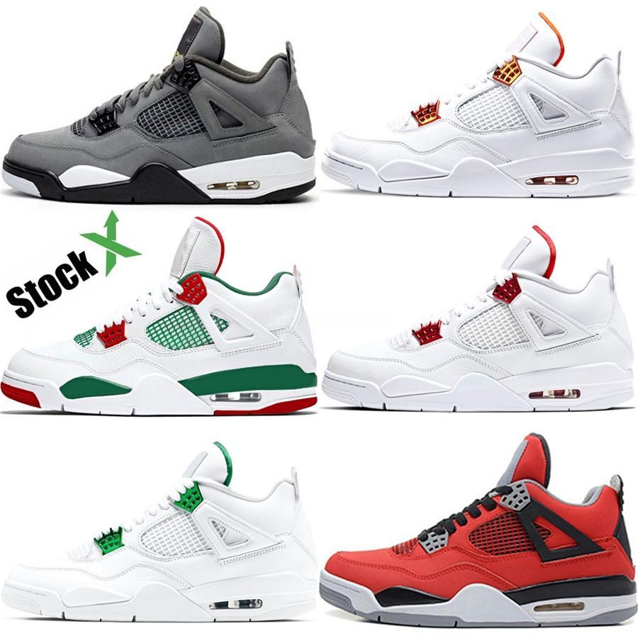 2020 nuevos zapatos de aire 4 retro fiebre del baloncesto de los hombres Violeta 4S Iv 4 SE de Rush Violeta Negro Blanco-violeta de Rush (Ps) para hombre de las zapatillas de deporte Deportes # 327