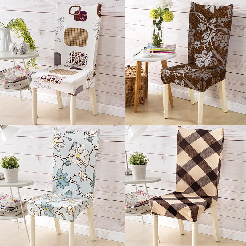 Chair Covers Spandex Elastic Dining Flower Printing Removable Seat Cover Four Seasons Home Banquet Wedding Party Anti-dirty