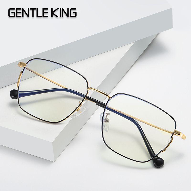GENTLE KING Mavi Işık Gözlük Erkekler Bilgisayar Gözlükler Oyun Gözlükler Şeffaf Gözlük Çerçevesi Kadınlar Karşıtı Blue Ray Gözlükler
