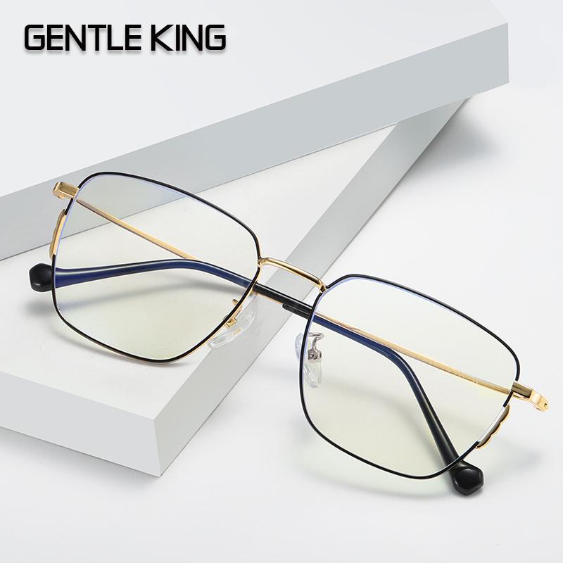 SUAVE azul rey vidrios de la luz de los hombres Gafas de juego de la computadora gafas con montura transparente Gafas Mujeres Anti Blue Ray Gafas
