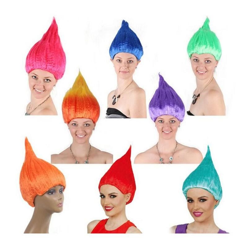 Fashion Adult Troll Style Festival Party Pixie Wig Holiday Cosplay Female Fluffy Color Hair European American Wigs Personality Festivals