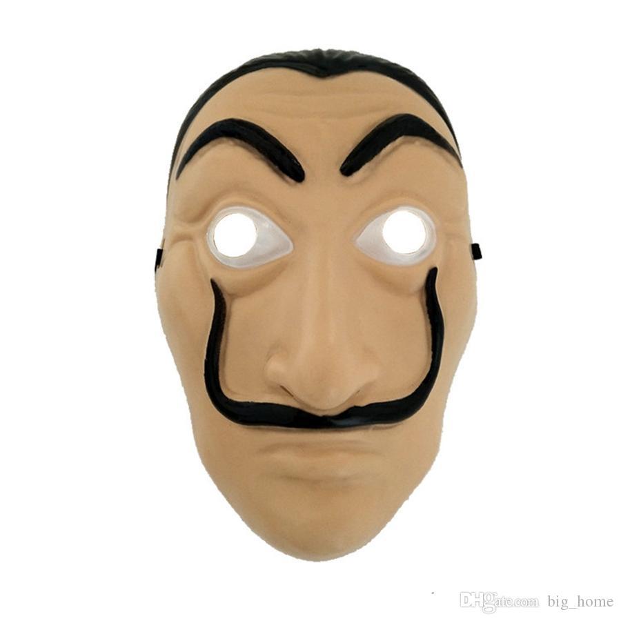 Cosplay Party Mask La Casa De Papel Mascarilla Salvador Dali Costume Movie Masks Realistic Halloween XMAS Supplies LJJ_TA1744