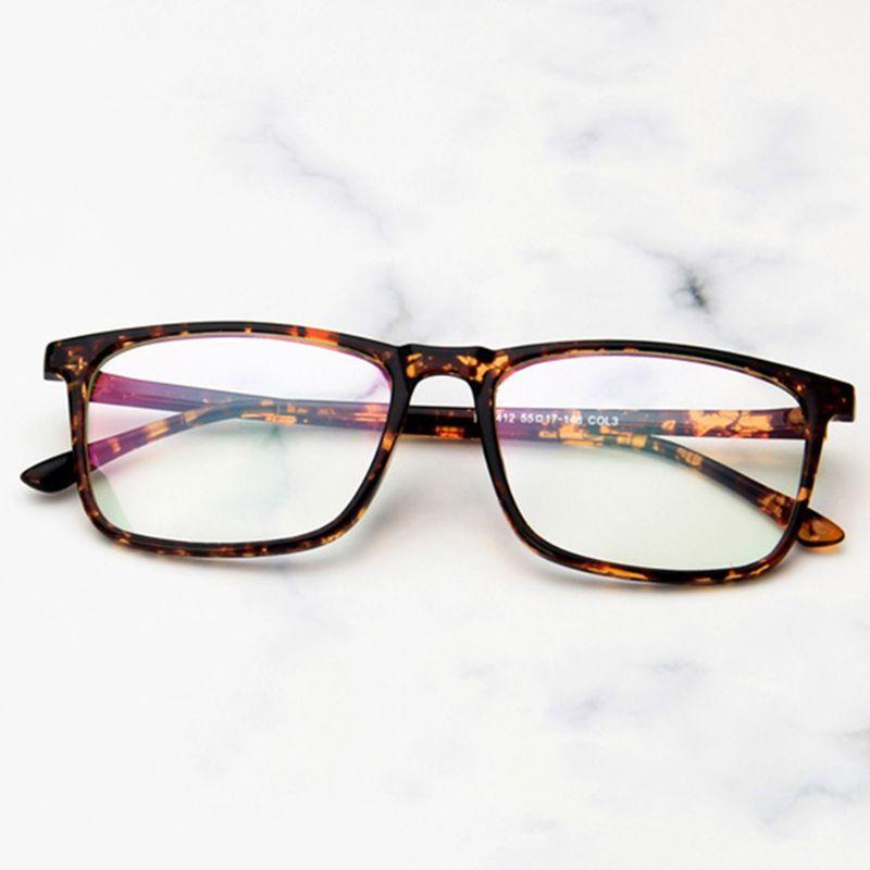 Atacado-Fashion 1 Pc Homens Mulheres Optical Glasses miopia Quadro Retro Praça VintClear Lens Óculos Hot Novo Design