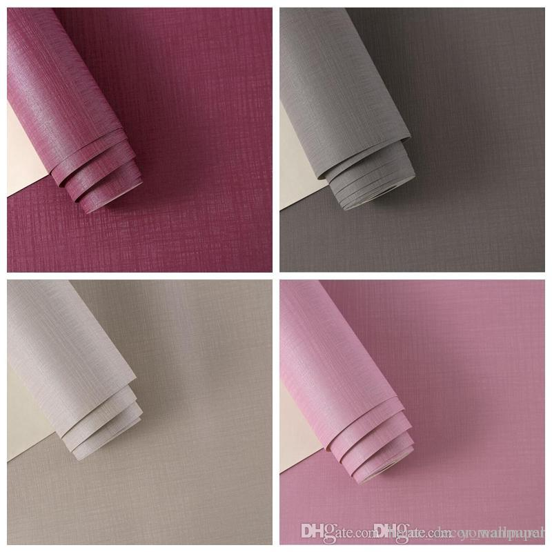 Modern Minimalist 3D Wallpaper Solid color wall paper PVC wallpaper for living room bedroom TV sofa background Wall DIY Decor