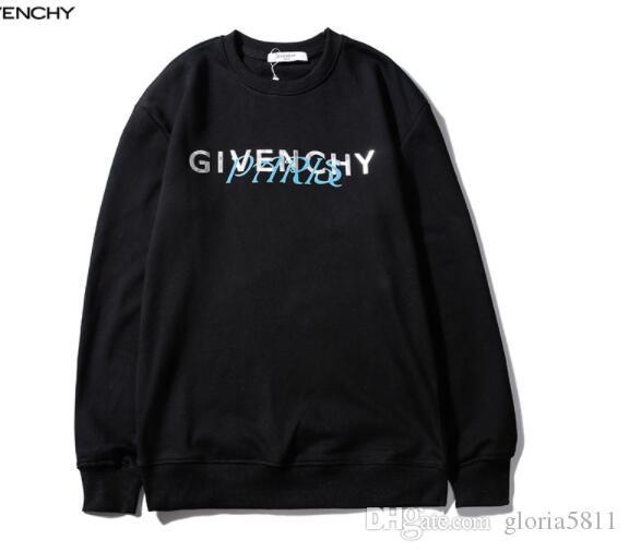 GIVМужчины и женщины с тем же пунктом прилива новый трехмерный письмо лозунг пуловер свитер свободный пост