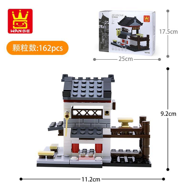 Китай Игрушки в стиле дети украсить блоки Мини для интеллекта 08 Сборка Новые игрушки Строительство Маленькие частицы здание Streetscape BLO GRRB