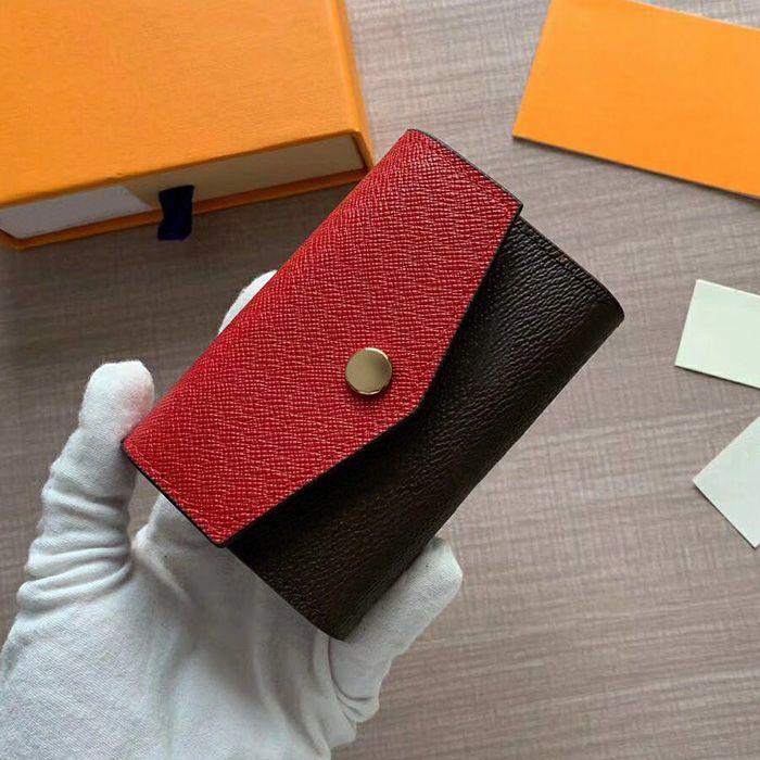 Wholesale Women's Short wallet Card Holders Leather Multi-color Classic Pocket Designer Fashion Wallet Coin holder business card holder