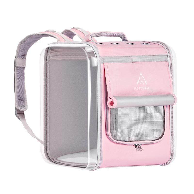 Pet Cat Backpack Espaço Ao Ar Livre Transparente Ambiental Cão Portátil Universal Suprimentos e Ir Protecção Out Cat Bag QXNFS EBMME