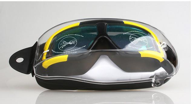 Toptan-Yetişkin kadın erkek yeni 2020 yüzme gözlüğü Düz yüzme Unisex gözlükler kaplama buğu önleyici gözlük Büyük çerçeve Silika jel HD