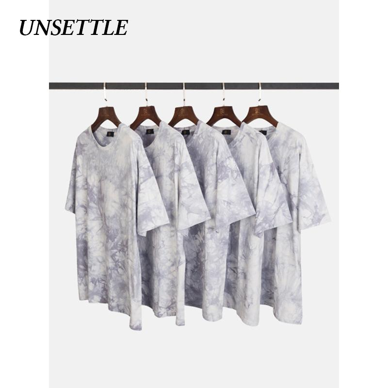 UNSETTLE 2020SS Harajuku Men/Women Hip Hop T Shirt Tie Dye Streetwear T-Shirts Hiphop Tshirt Summer Short Sleeve Tops Tees