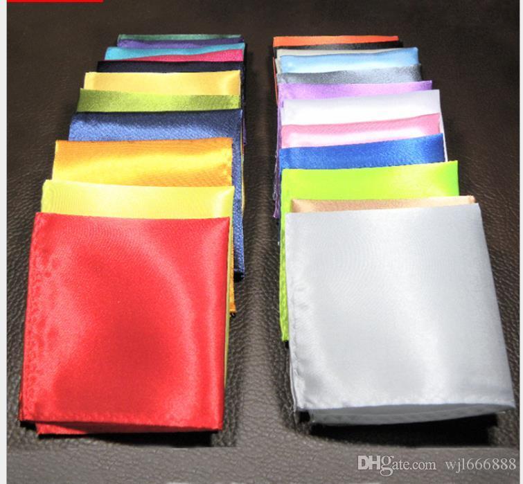 Hombres de traje, toalla de bolsillo, toalla pequeña, de vestir fiesta de la boda, sujetador, pañuelo puro, negro, rojo, azul, verde, amarillo y morado
