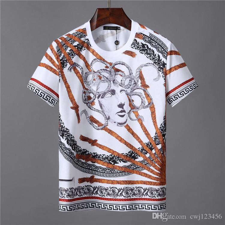 Estirar la camiseta del color sólido del cuello alto 19SS hombres de la moda de alta estiramiento largo de la manga de los hombres delgados ocasionales de la camiseta de los hombres de