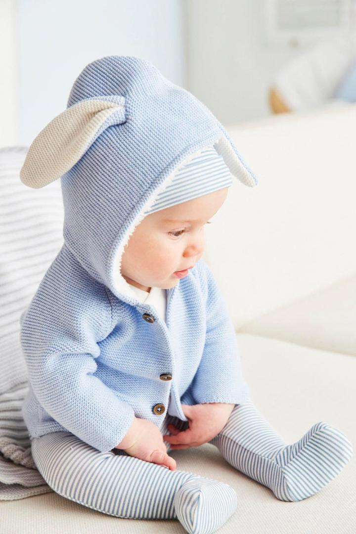 2019 Yenidoğan Bebek Çocuk Kız Bebek Giyim Baby Boy kapüşonlu kazak Tavşan Kulakları Coat Outerwears 0-24